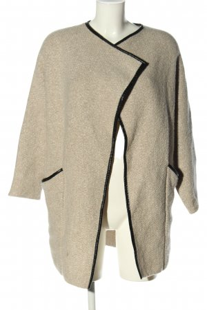 Zara Strick Cardigan creme-schwarz Casual-Look