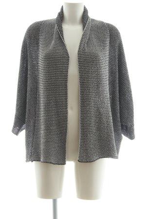 Zara Strick Cardigan schwarz-weiß meliert Casual-Look