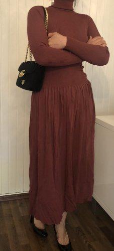Zara Knitted Dress bordeaux