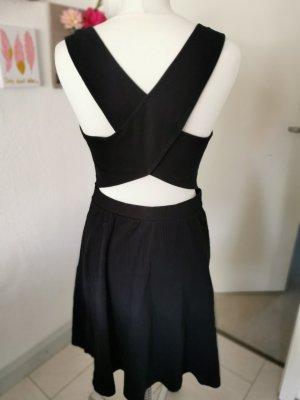 Zara Knit Vestito di lana nero