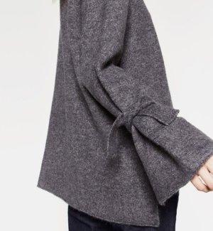 Zara Pull long gris foncé