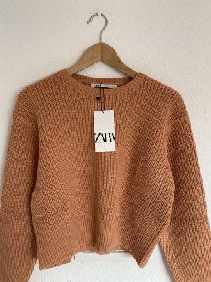 Zara Strick Pullover apricot S