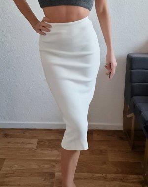 Zara Spódnica z dzianiny biały-w kolorze białej wełny