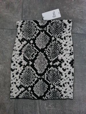 Zara Knitted Skirt black-grey