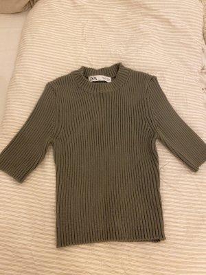 Zara Camisa de cuello de tortuga caqui