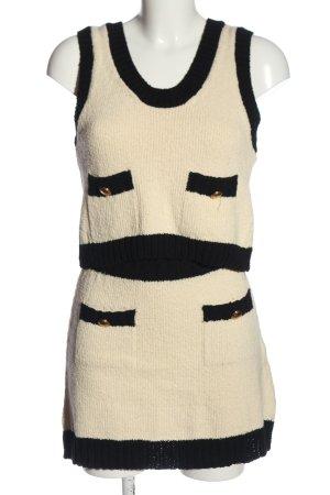 Zara Strick Twin Set creme-schwarz Casual-Look