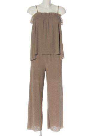 Zara Twin Set punto marrón look casual