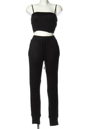 Zara Twin Set punto negro look casual
