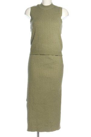 Zara Twin set in maglia cachi stile casual