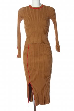 Zara Strick Twin Set hellorange Casual-Look