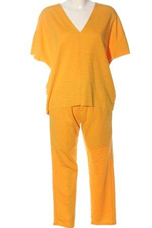 Zara Ensemble en tricot jaune primevère moucheté style décontracté