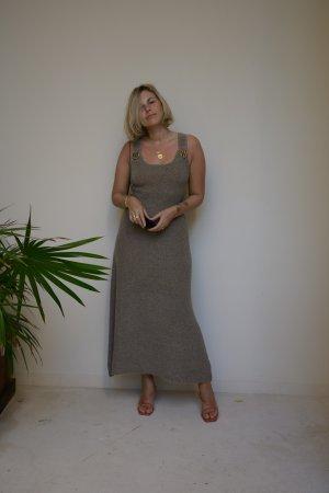 Zara Strick Twin Set hellgrau-braun meliert Casual-Look