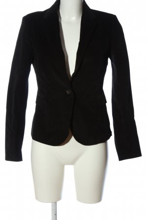 Zara Strickblazer schwarz Business-Look