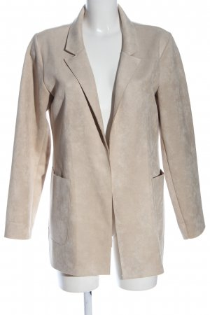 Zara Strickblazer wollweiß Casual-Look