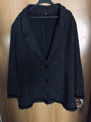 Zara Gebreide blazer zwart-grijs