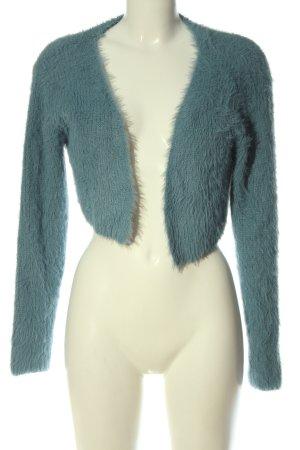 Zara Bolero lavorato a maglia blu stile casual