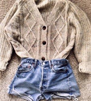Zara Giacca in maglia beige