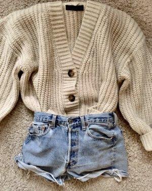 Zara Giacca in maglia crema