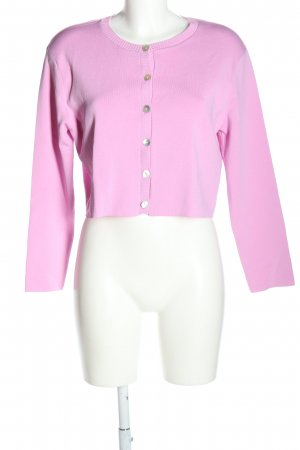 Zara Strickjacke pink Casual-Look