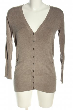 Zara Strickjacke braun meliert Casual-Look