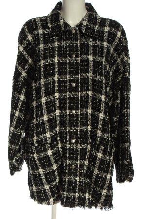 Zara Rebeca negro-blanco puro estampado a cuadros look casual