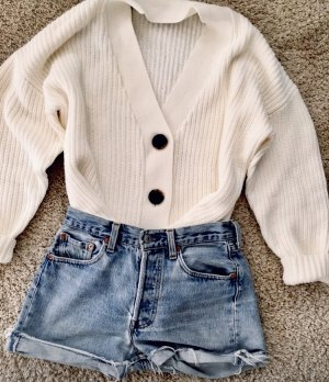 Zara Veste en tricot blanc