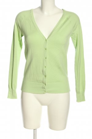 Zara Strickjacke grün Casual-Look