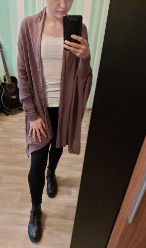 Zara Knit Rebeca lila grisáceo