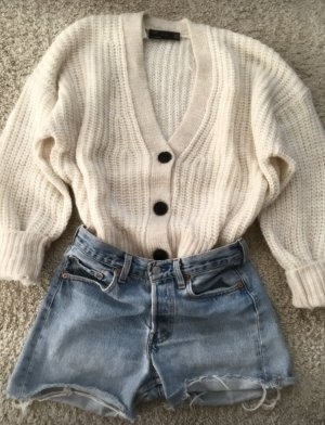 Zara Giacca in maglia bianco sporco-crema