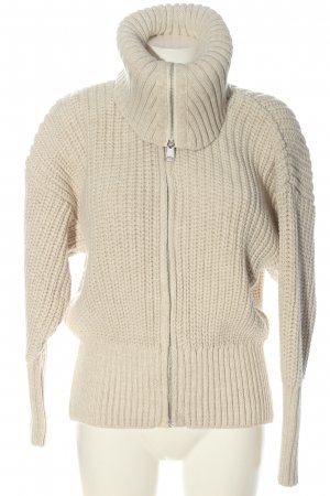 Zara Giacca in maglia bianco sporco stile casual