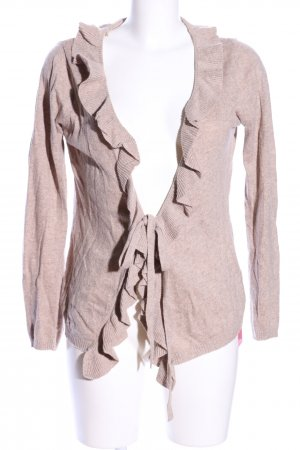 Zara Strickjacke creme meliert Casual-Look