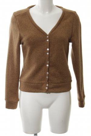 Zara Strickjacke braun Casual-Look