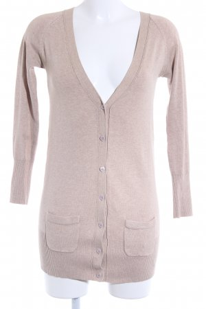 Zara Strickjacke beige Casual-Look