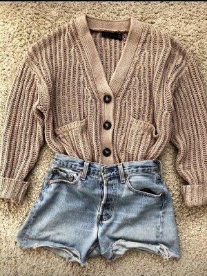 Zara Giacca in maglia marrone chiaro