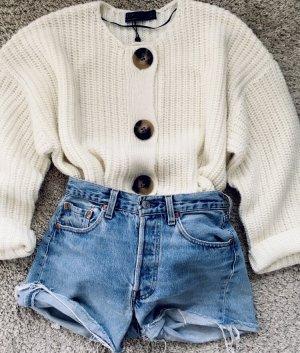 Zara Giacca in maglia bianco