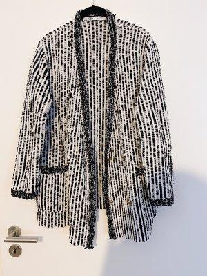 Zara Wollen blazer wit-zwart