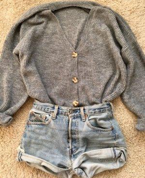 Zara Giacca in maglia grigio-grigio chiaro