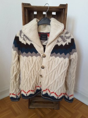 Zara Knit Norweska dzianinowa kurtka Wielokolorowy