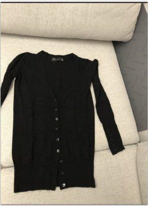 Zara Płaszcz z dzianiny czarny