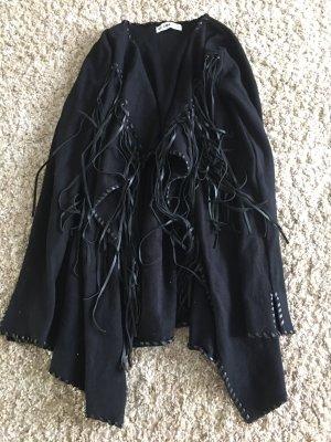 Zara Basic Poncho noir