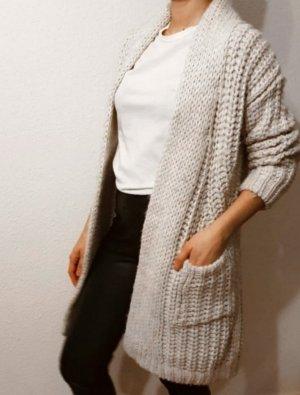 Zara Veste tricotée en grosses mailles blanc cassé