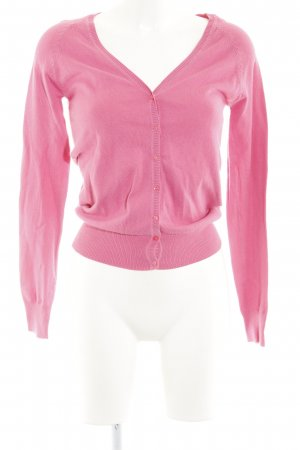 Zara Strickjacke magenta Casual-Look