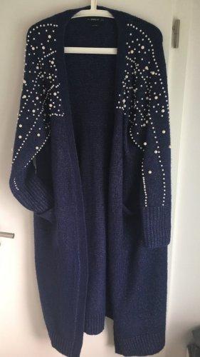 Zara Strickjacke mit Wolleanteil marineblau  Gr.S neuwertig