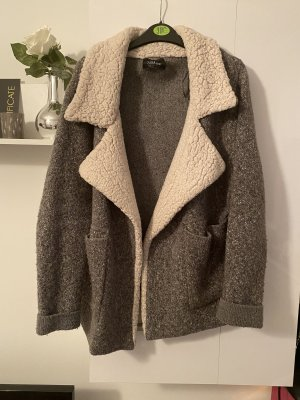 Zara Knit Giacca di lana grigio