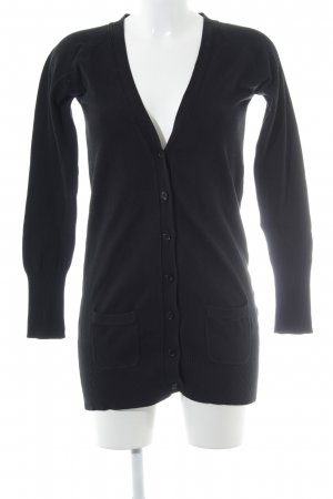 Zara Strickjacke schwarz Casual-Look