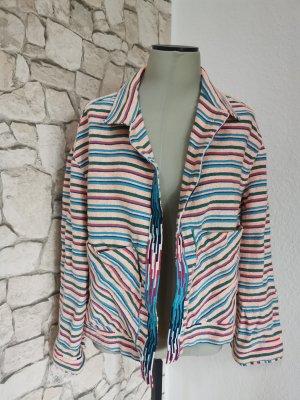 Zara Blazer en maille tricotée rose-bleu