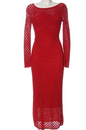 Zara Strickkleid rot Elegant