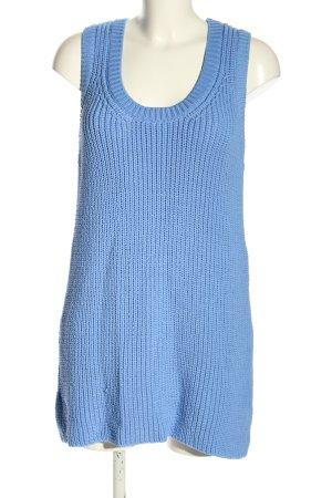 Zara Strickkleid blau Zopfmuster Casual-Look