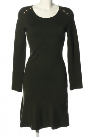 Zara Strickkleid khaki Casual-Look