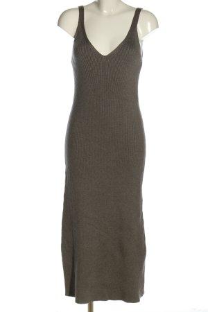 Zara Strickkleid grün Streifenmuster Casual-Look